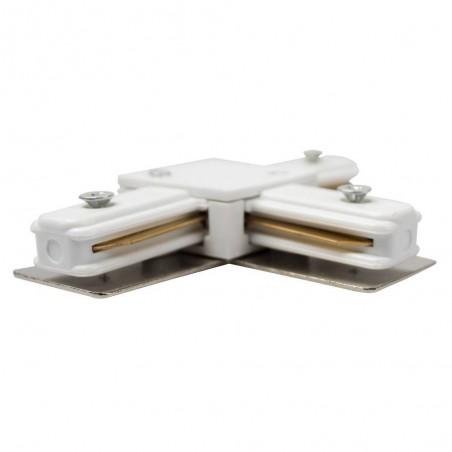 Track line conector 2x90° White WJ-DL-2T
