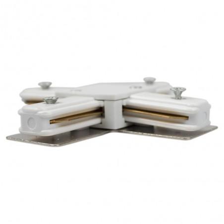 Track line conector 4x90° White WJ-XC03