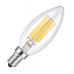 Bec cu filament LED C35 E14