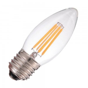 Bec cu filament LED C35 2700K E27