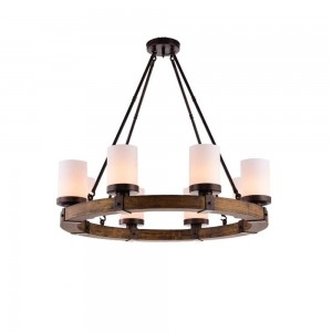 Pendant Wood Lamp BK3051-P-6L