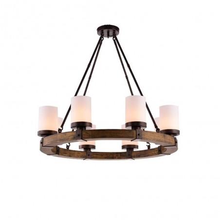 Pendant Wood Lamp BK3051-P-6L