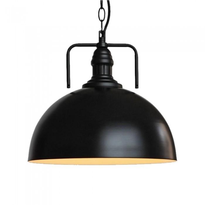 Pendant Iron Lamp BK4008-P-S BLACK dia.30cm*H27cm