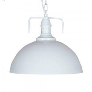 Pendant Iron Lamp BK4008-P-S WHITE dia.30cm*H27cm
