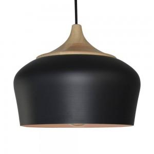 Pendant Iron Lamp BK4015-P-1L BLACK dia.30*H20cm