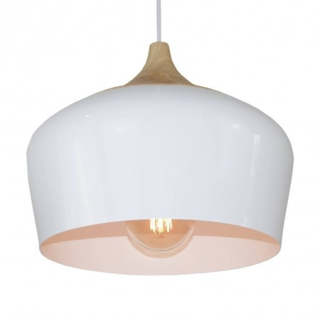 Pendant Iron Lamp BK4015-P-1L WHITE dia.30*H20cm