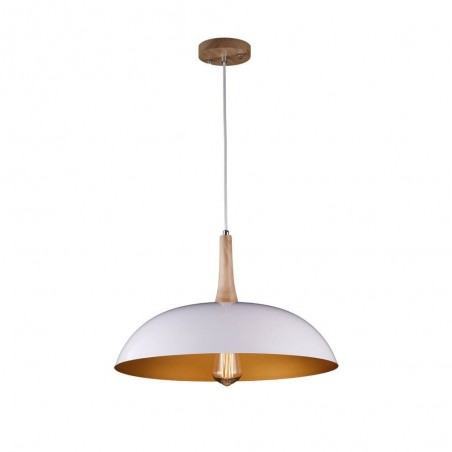 Iron Pendant Lamp F4415/1 WH+GD WHITE