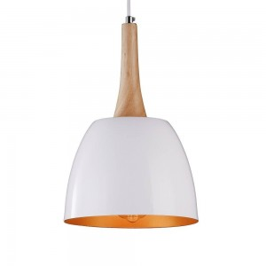 Iron Pendant Lamp F4414/1 WH+GD WHITE