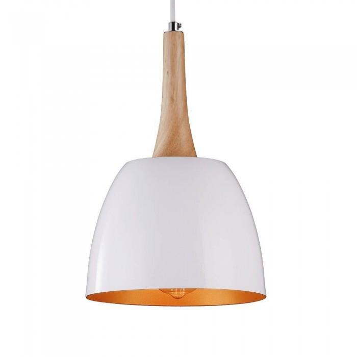 Iron Pendant Lamp F4414/1 WH+GD WHITE