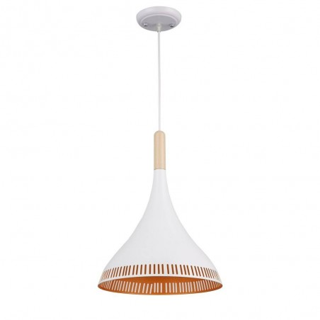 Iron Pendant Lamp F4452/1 WH+GD WHITE