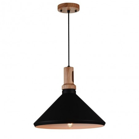 Iron Pendant Lamp F4540/1 BK+GD BLACK