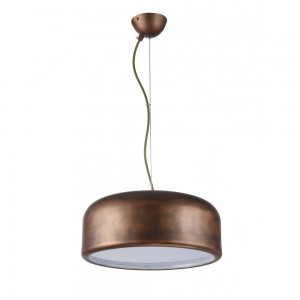 Iron Pendant Lamp F4671/1 RG+WH BROWN