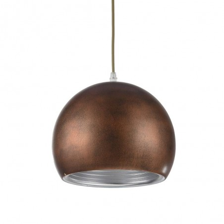 Iron Pendant Lamp F4681/1 RG+WH BROWN