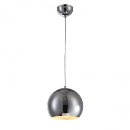 Iron Pendant Lamp F6135/1 (300mm) CH+WH CHROME
