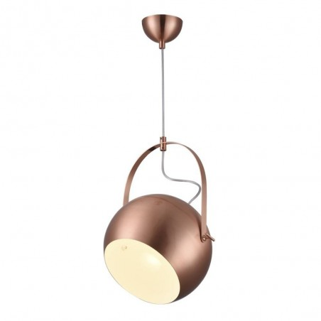 Iron Pendant Lamp F6302/1-250mm RD+WH ROSE