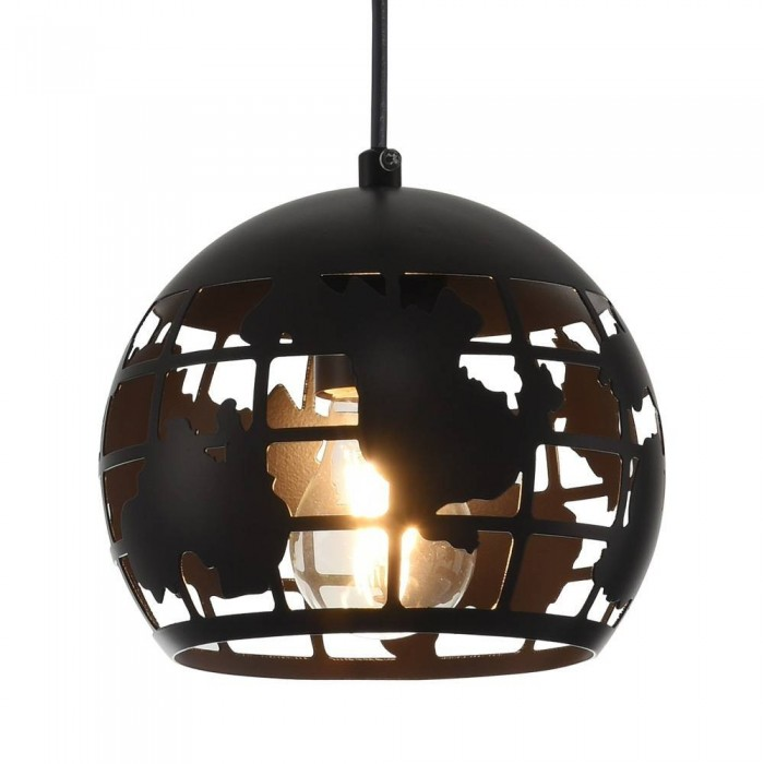 Iron Pendant Lamp F6354/1-180mm matte black