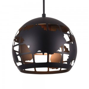 Iron Pendant Lamp F6355/1-200mm matte black