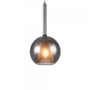 Glass Pendant Lamp F4792/1-180mm  (smoky)