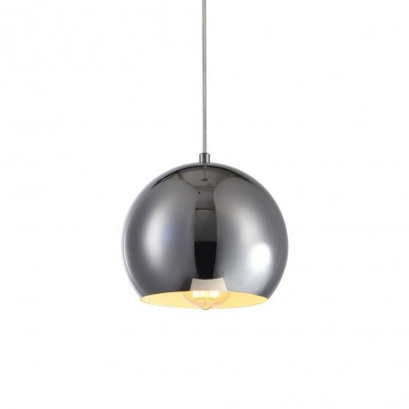 Iron Pendant Lamp F4701/1 (200mm) CH+WH CHROME