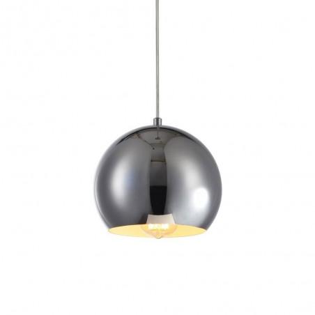 Iron Pendant Lamp F4701/1 (200mm) CH+WH CHROME