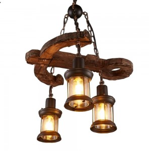 Pendant Wood lamp BK3014-P-3L