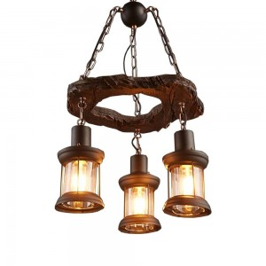 Pendant Wood lamp BK3013-P-3L