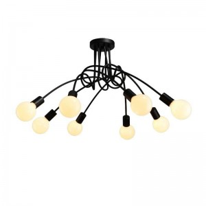 Ceiling Iron lamp BK1061-C-8L
