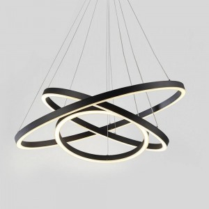 Round Pendant ACRILYC 9608 (130W / 4000K / COFFEE / 800+600+400 mm)