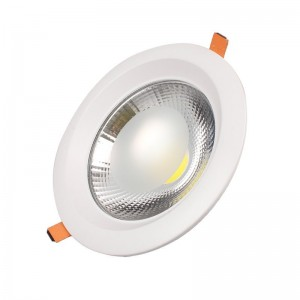 COB Down light Round TS-C0330 30W D:225 H:65 Cut:195