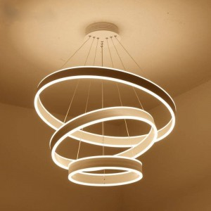 Pendant CIRCLE DOUBLE SIDE 135W, ?800+600+400mm*15+35, LM-YY78
