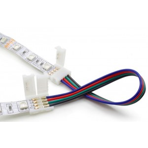 Led Strip connector RGB A2T-4P-10mm wire connection L-150mm both ends