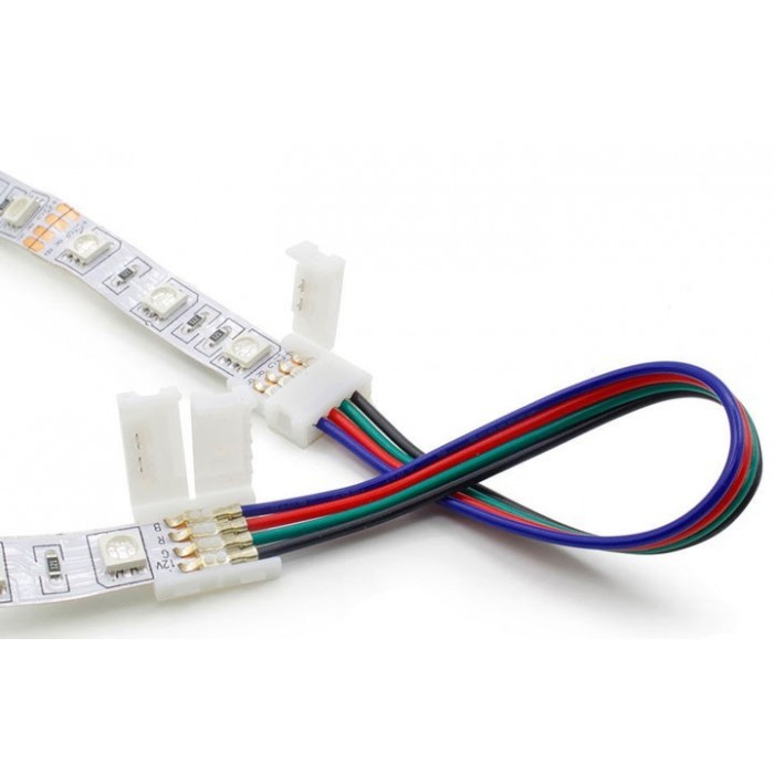 Led Strip connector A2T-2P-10mm wire connection L-150mm both ends