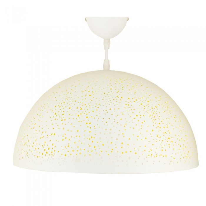 Iron Pendant Lamp F6146/1  white+yellow