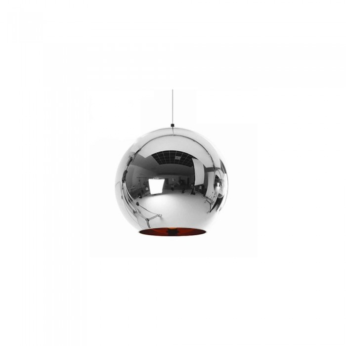 Pendant glass Fitting housing F6188/1-200mm chrome