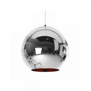 Pendant glass Fitting housing F6189/1-250mm chrome