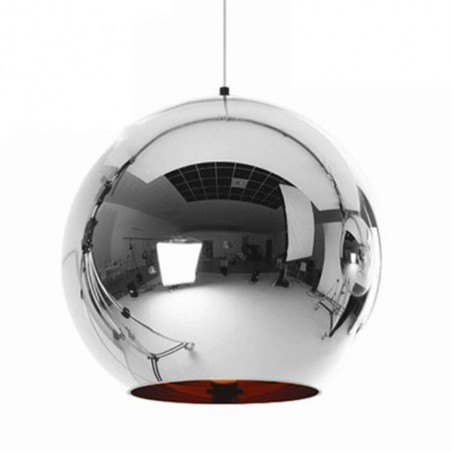Pendant glass Fitting housing F6190/1-300mm chrome
