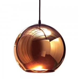 Pendant glass Fitting housing F6189/1-250mm rose gold