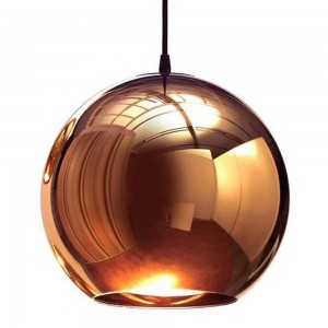 Pendant glass Fitting housing F6190/1-300mm rose gold