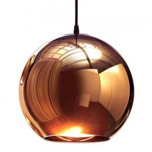 Pendant glass Fitting housing F6190/1-300mm rose gold