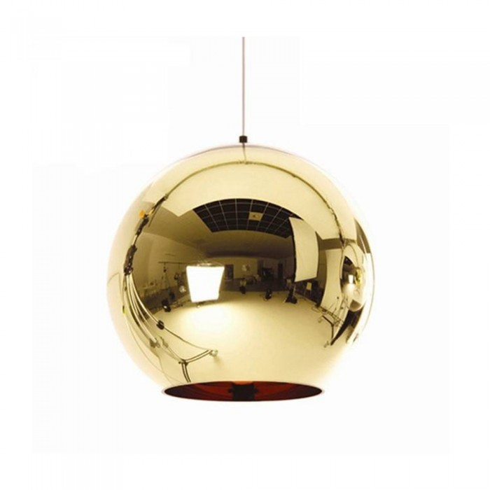 Pendant glass Fitting housing F6189/1-250mm gold