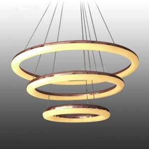 Pendant BUBLE gold copper 170W, 6000K, ?600+400+200mm JYY246
