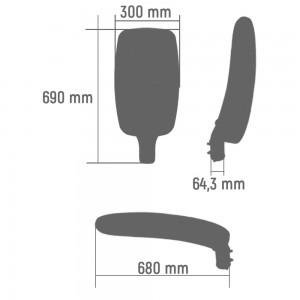 Уличный LED светильник FUSION RANGE S JK3030 60 (W)