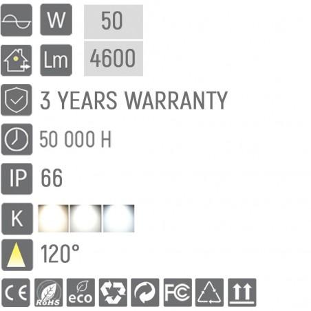 Corp de iluminat cu LED stradal ULTRA RANGE 50 (W)
