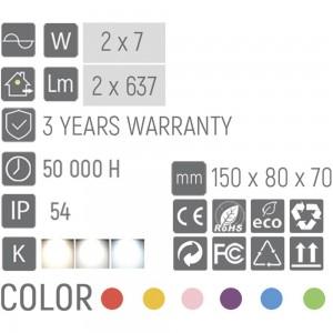 Настенный LED светильник LC1010/2