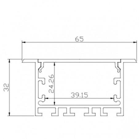 Aluminium Profile LMC-6532-3 65*32mm 3m/PC
