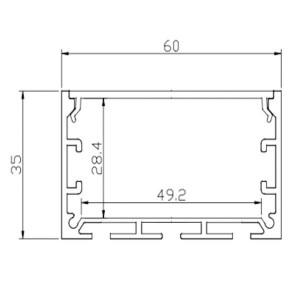 Profil din aluminiu pentru banda LMC-6035 3m/set, 60*32mm