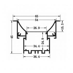 Profil din aluminiu pentru banda LMC-6545 3m/set, 65*45mm