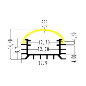 Profil din aluminiu pentru banda LED L001 2m/pcs