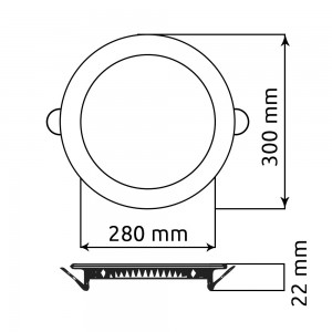 Round Ceiling Panel TS-P0124 (24W)