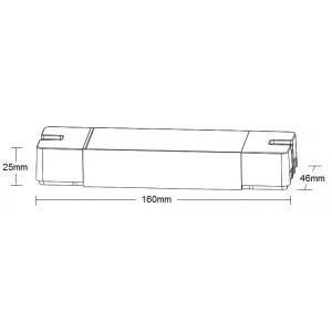 DLV003 4 in 1 controller for DIM/CCT/RGB/RGBW/RGBW+WW, 12-24VDC , 4CH*6A